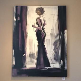 Canvas vrouw