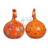Orange kippen set