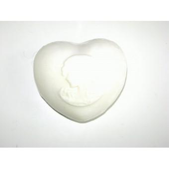 Hart zeep wit
