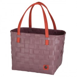 Shopper color block oud roos
